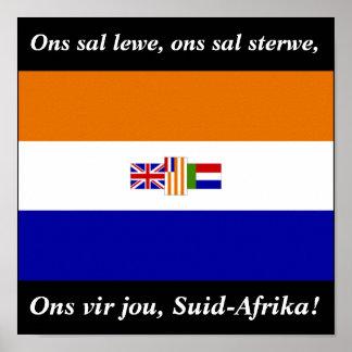 Vir van Ons jou, suid-Afrika! Poster