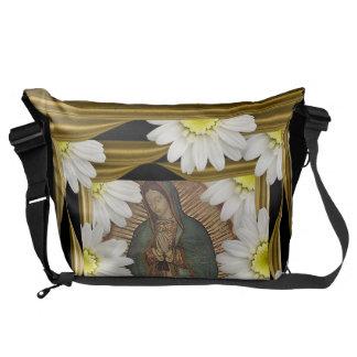 Virgen DE Guadalupe (met madeliefjes) Messenger Bag