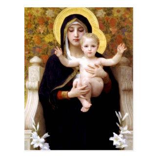 Virgin van Lillies Briefkaart