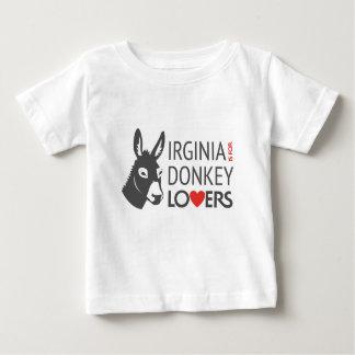 Virginia is voor de Minnaars van de Ezel Baby T Shirts
