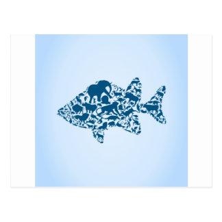 Vis een dier briefkaart
