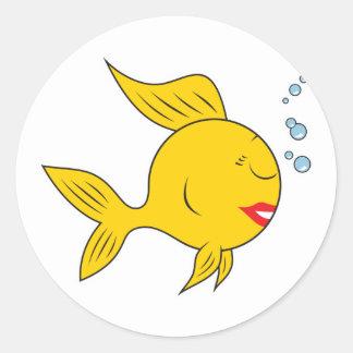 Vis Gezicht Smiley Ronde Sticker