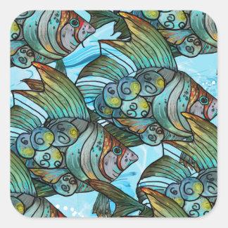 Vis Vis Vierkante Sticker
