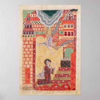 Visie van St. Aldegonde van Maubeuge Poster