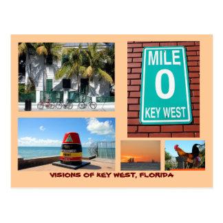 Visies van Key West, Florida Briefkaart