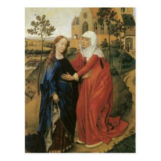 Visitation van Mary - Rogier van der Weyden Briefkaart