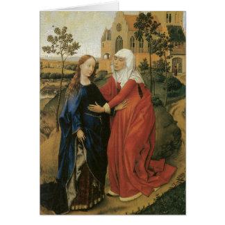 Visitation van Mary - Rogier van der Weyden Briefkaarten 0