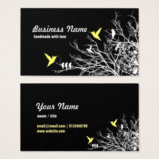 visitekaartje - boomtakken en twee vogels visitekaartjes
