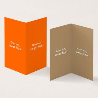 Visitekaartje Gevouwen Boek V oranje-Goud