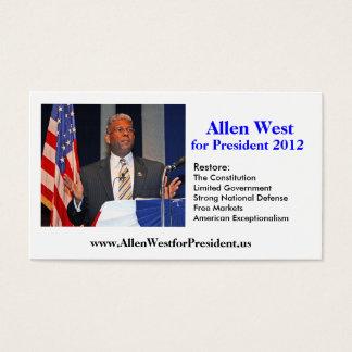 Visitekaartje, het Westen van Allen voor President Visitekaartjes