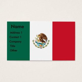 Visitekaartje met Vlag van Mexico Visitekaartjes