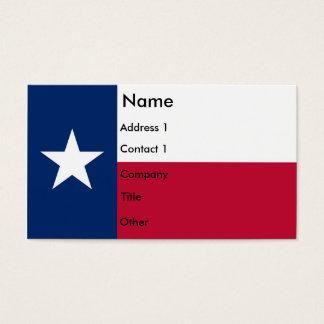 Visitekaartje met Vlag van Texas de V.S. Visitekaartjes