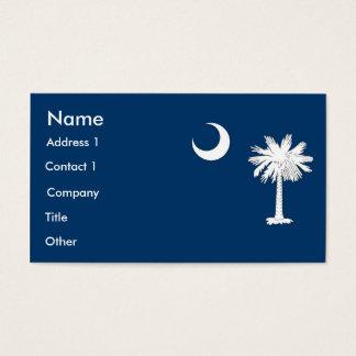 Visitekaartje met Vlag van Zuid-Carolina de V.S. Visitekaartjes