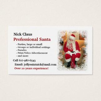 Visitekaartje: Professionele Kerstman Visitekaartjes