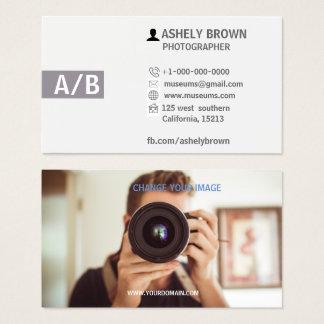 Visitekaartje van de Fotografie van de fotograaf Visitekaartjes