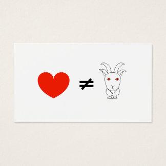 Visitekaartje van de Geitebok van de liefde Geen Visitekaartjes