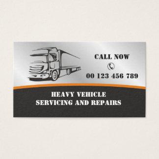 Visitekaartje voor de Autodiensten voor zwaar Visitekaartjes