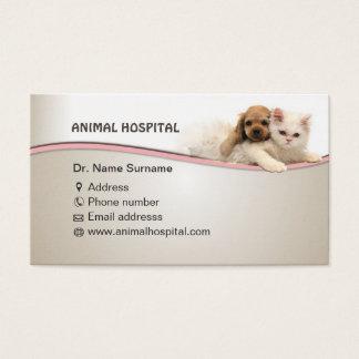 visitekaartje voor het dierlijke ziekenhuis arts visitekaartjes