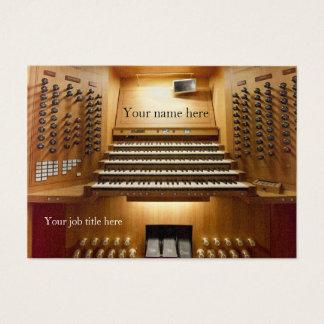 Visitekaartje voor kerkmusici - orgaanconsole visitekaartjes