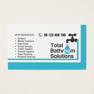 visitekaartje voor loodgieter & manusje van alles visitekaartjes