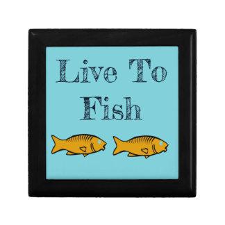vissen het zwemmen decoratiedoosje