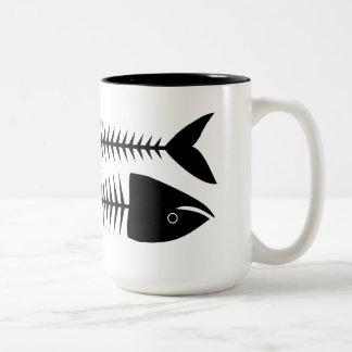 Vissen Tweekleurige Koffiemok