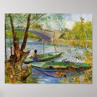 Vissend in de Lente, Van Gogh Fine Art. Poster