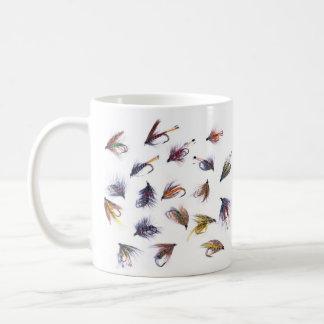 vissende vliegen koffiemok