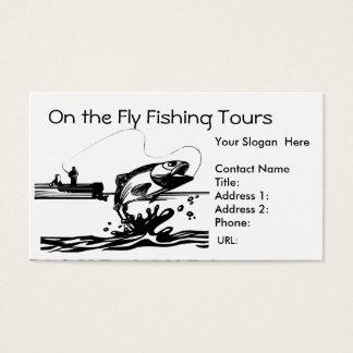 Visser die op de Sjabloon van het Visitekaartje Visitekaartjes