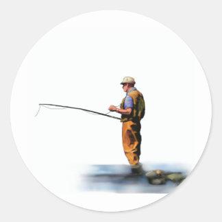 visser ronde sticker