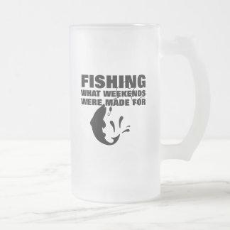 Vissers die Grappige Slogan Themed vissen Matglas Bierpul