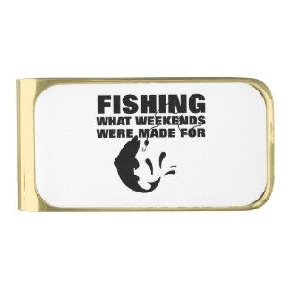 Vissers die Grappige Slogan Themed vissen Vergulde Geldclip