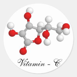 Vitamine C Ronde Sticker