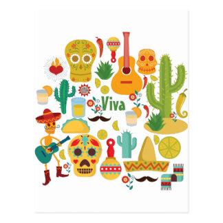 viva Mexico Briefkaart