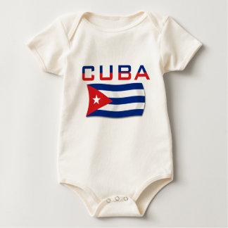 Vlag 2 van Cuba Baby Shirt