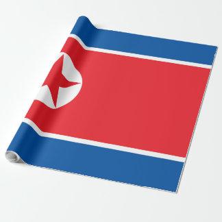 Vlag de Noord- van Korea Inpakpapier