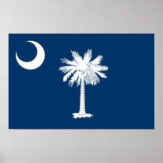 Vlag de Zuid- van Carolina Poster