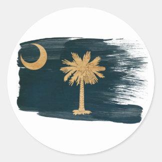 Vlag de Zuid- van Carolina Ronde Sticker