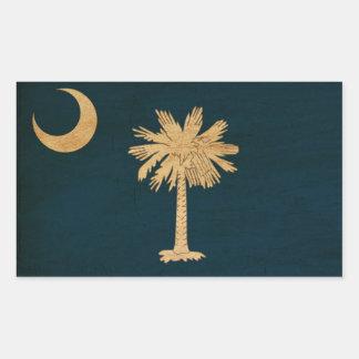 Vlag de Zuid- van Carolina Rechthoekvormige Stickers