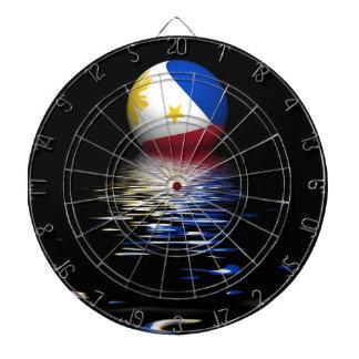 /Vlag die van Filippijnen toenemen de plaatsen Dartbord