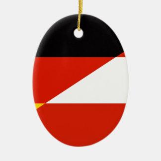 Vlag Duitsland-Oostenrijk Keramisch Ovaal Ornament