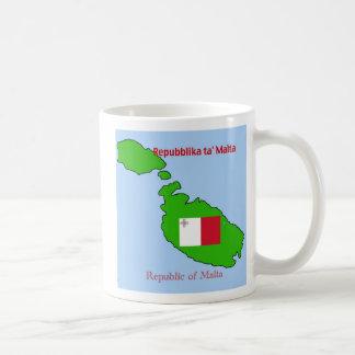 Vlag en Kaart van Malta Koffiemok