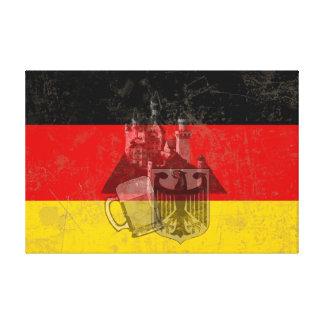 Vlag en Symbolen van Duitsland ID152 Canvas Afdruk