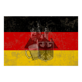 Vlag en Symbolen van Duitsland ID152 Poster