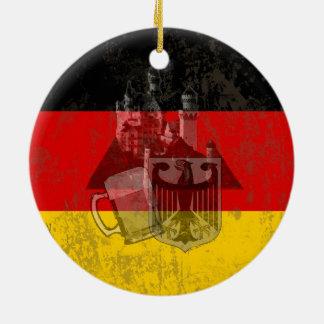 Vlag en Symbolen van Duitsland ID152 Rond Keramisch Ornament