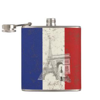 Vlag en Symbolen van Frankrijk ID156 Heupfles