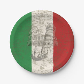 Vlag en Symbolen van Italië ID157 Papieren Bordje