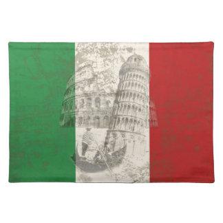 Vlag en Symbolen van Italië ID157 Placemat