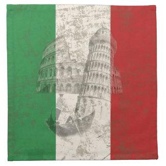 Vlag en Symbolen van Italië ID157 Servet