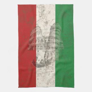 Vlag en Symbolen van Italië ID157 Theedoek